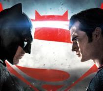 Un dettaglio del poster promozionale di Batman V Superman: Dawn of Justice
