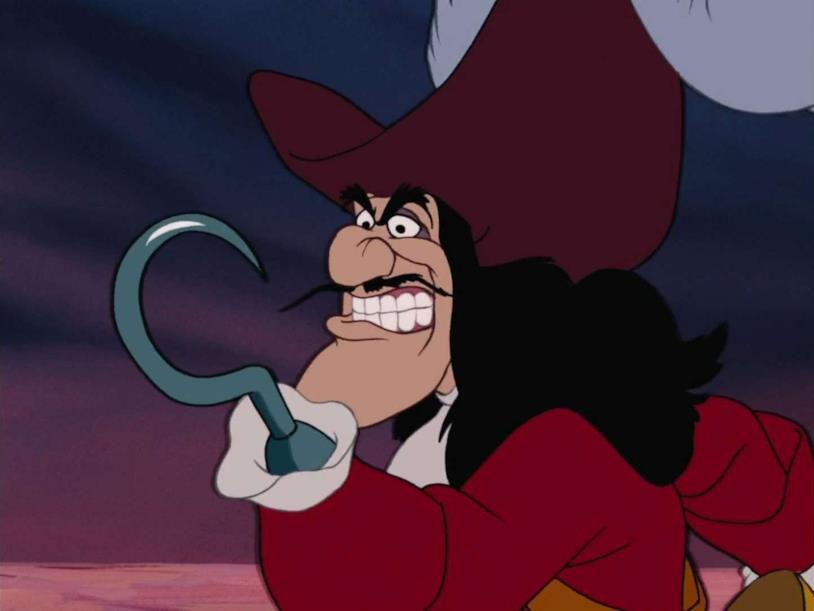 Capitan Uncino in una scena di Le avventure di Peter Pan
