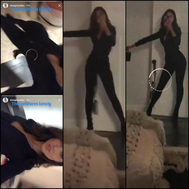 Eiza González con un abito da Catwoman che ha fatto scalpore