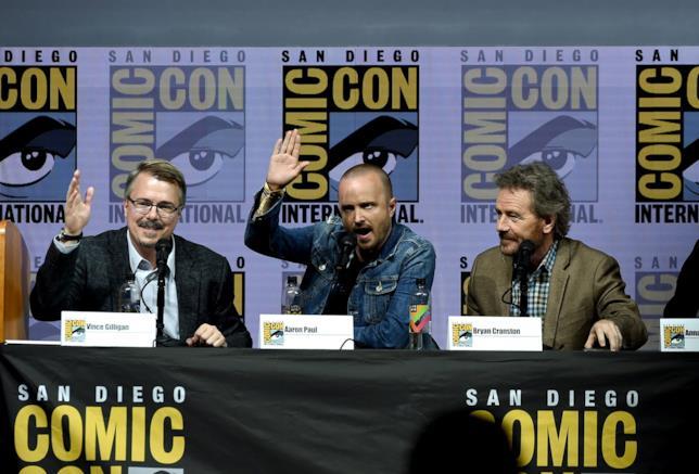 Breaking Bad: Vince Gilligan, Aaron Paul, Bryan Cranston