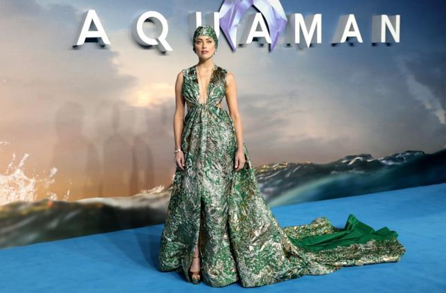 Amber Heard alla prima di Aquaman