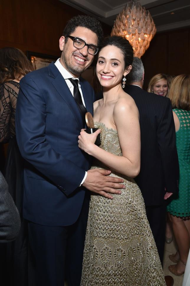 Sam Esmail ed Emmy Rossum a un party