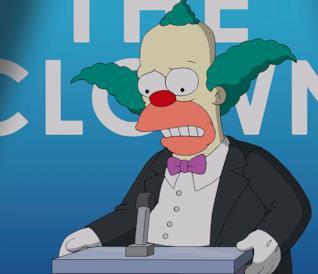 Krusty il Clown in una puntata de I Simpson