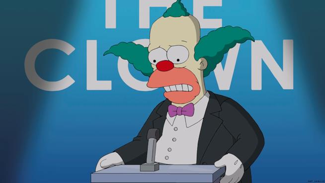 Krusty il Clown in una puntata de I Simpson