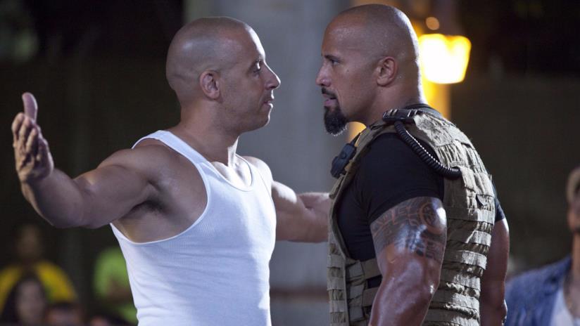 Vin Diesel e The Rock sul set di Fast & Furious 5