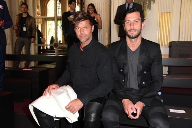Primo piano di Ricky Martin e Jwan Yosef