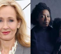 J.K. Rowling e le attrici di colore della famiglia Weasley-Granger