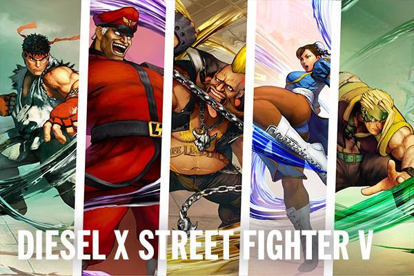 Le sneaker Diesel x Street Fighter V