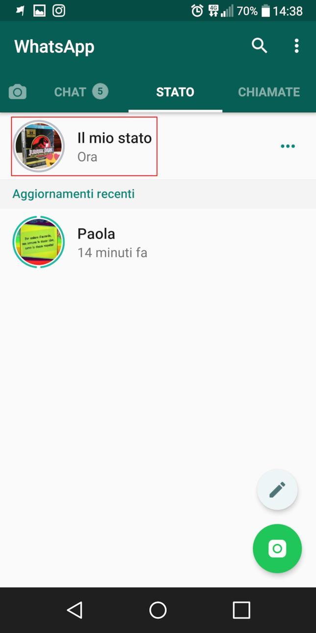 Come guardare la propria Come Storia su WhatsApp