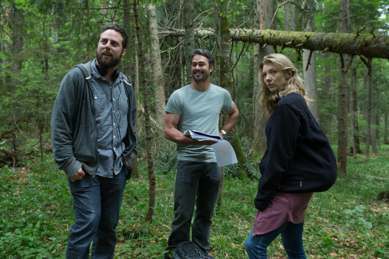 Natalie Dormer con il regista Jason Zada