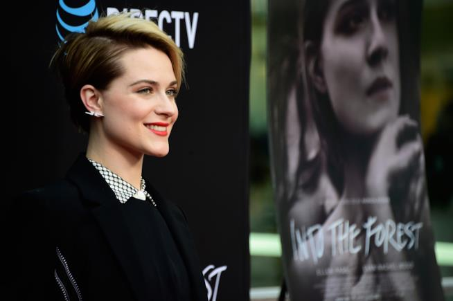 Primo piano di Evan Rachel Wood alla prima di Into The Forest