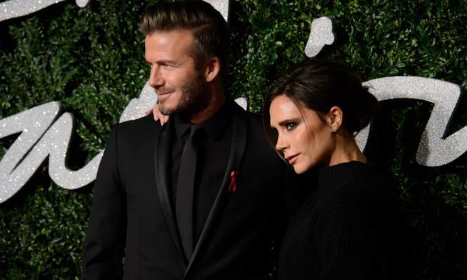 Un primo piano di David e Victoria Beckham