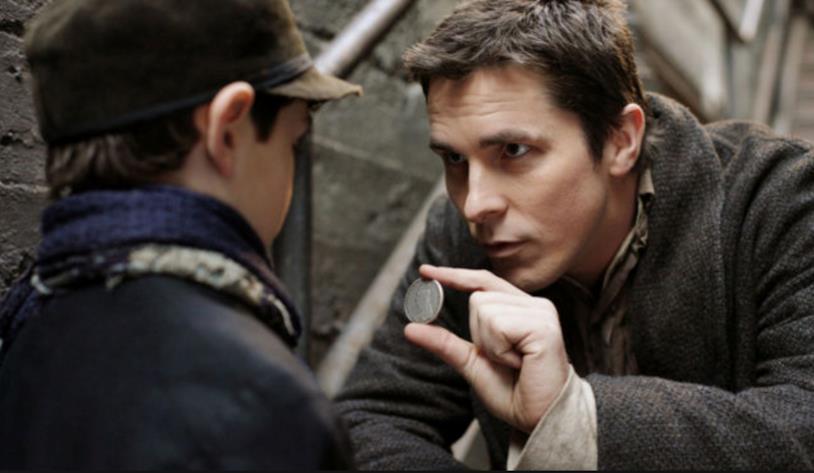 Una scena di The Prestige con Christian Bale