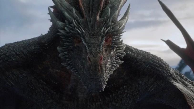 Drogon fissa Jon in GoT 8x01