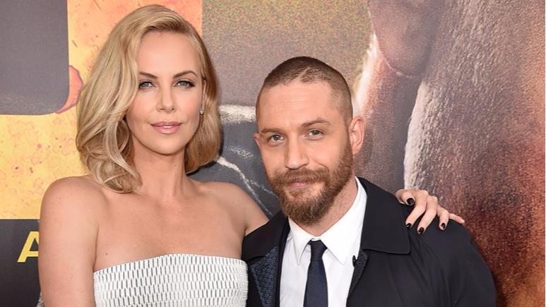 Charlize Theron e Tom Hardy alla prima di Mad Max: Fury Road