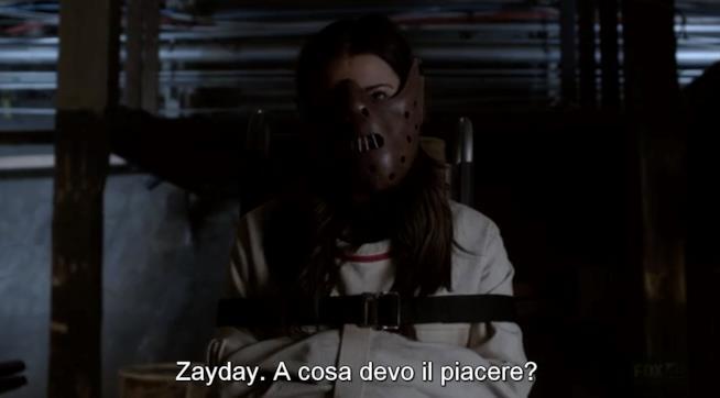 Hester è ritratta come Hannibal Lecter in Scream Queens
