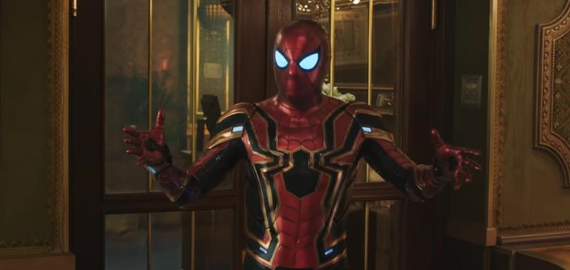 Iron Spider in una scena di Spider-Man: Far From Home