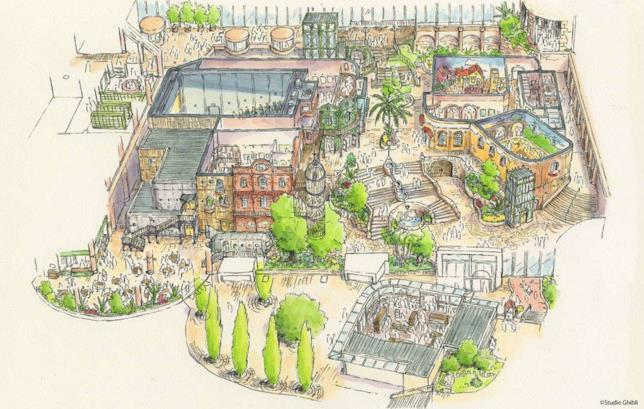 Ghibli Theme Park: concept art mostra come sarà il parco a tema Ghibli di Nagoya