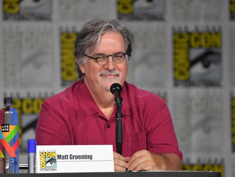 Matt Groening durante il Comic-Con 2018