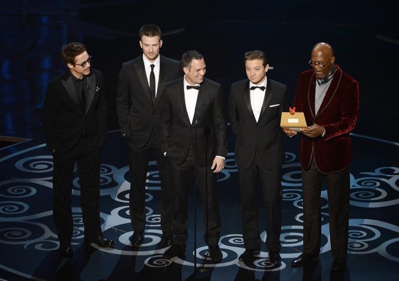 Robert Downey Jr., Mark Ruffalo, Samuel L. Jackson, Chris Evans e Jeremy Renner agli Oscar
