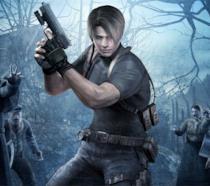Leon in azione nella cover art ufficiale di RE4