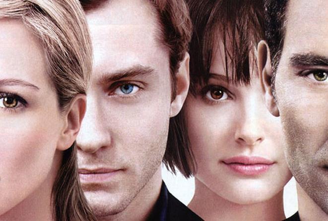 Julia Roberts, Jude Law, Natalie Portman e Clive Owen nel poster di Closer