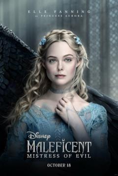 Il character poster di Maleficent con Aurora
