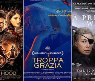 I poster dei film Robin Hood - L'origine della leggenda, Troppa grazia, A Private War