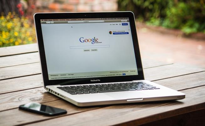 Un'immagine di Google sul pc