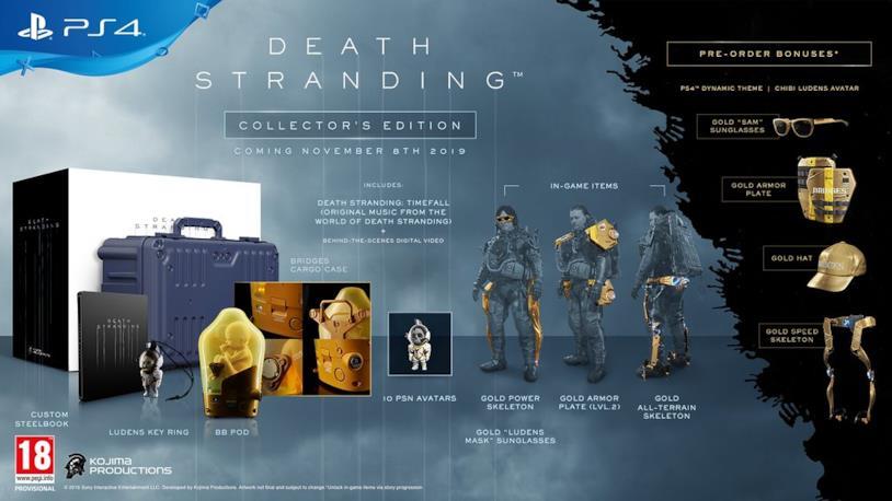 Death Stranding nella sua Collector's Edition