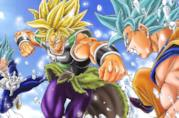 Broly contro Goku e Vegeta nel film Dragon Ball Super