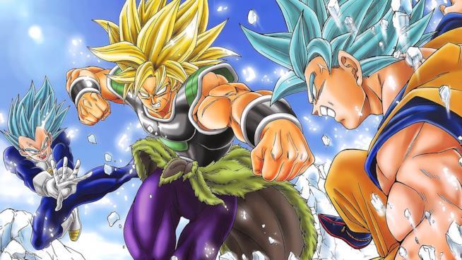 Broly contro Goku e Vegeta nel film Dragon Ball Super