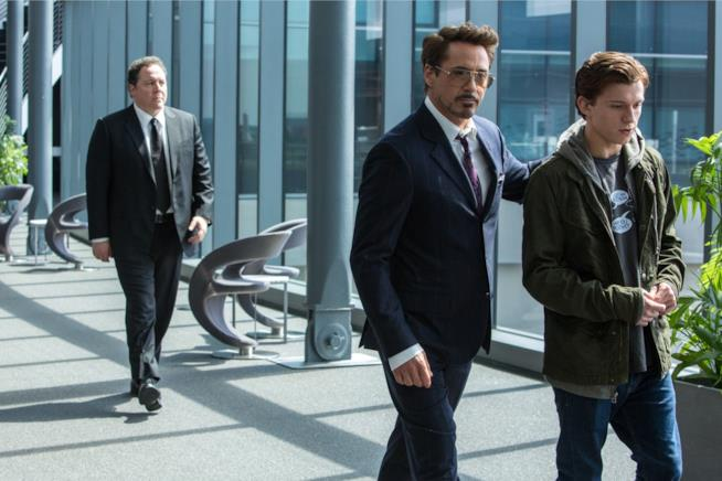 Tony Stark e Peter Parker in Spider-Man: Homecoming