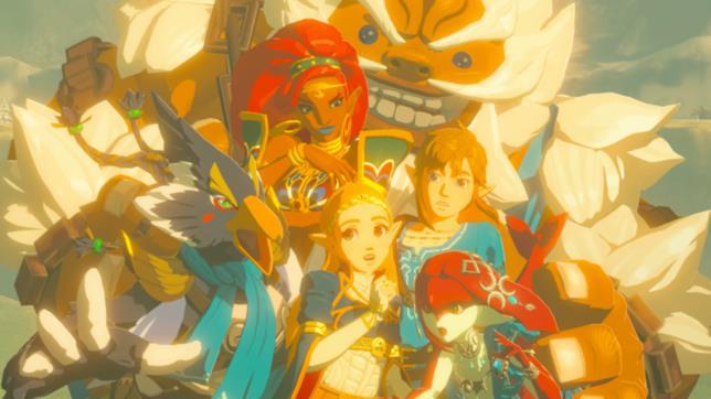 I Campioni di Hyrule dell'ultimo capitolo di The Legend of Zelda