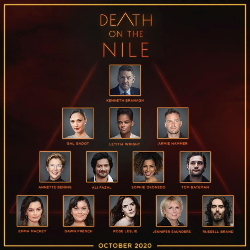 Il cast principale di Death on the Nile