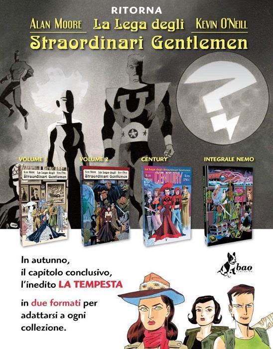 I quattro volumi della ristampa de La Lega degli Straordinari Gentlemen di Alan Moore