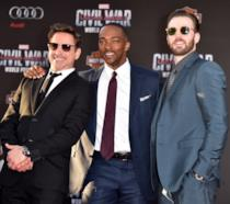 Robert Downey Jr., Anthony Mackie e Chris Evans