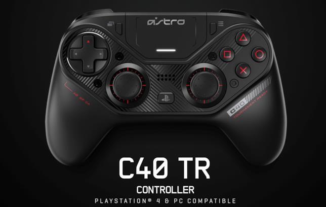 Immagine stampa del pad C40 TR di Astro Gaming per PS4 e PC