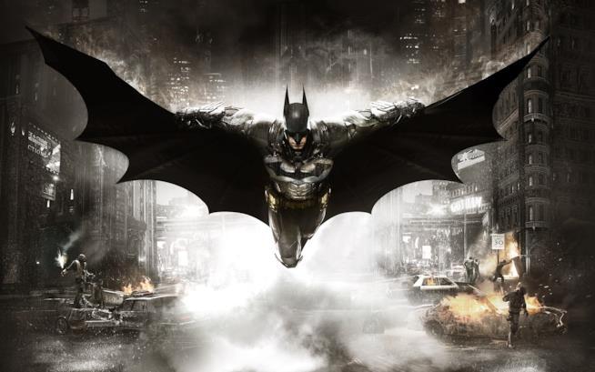 Batman sulla cover ufficiale di Arkham Knight per PS4, Xbox One e PC