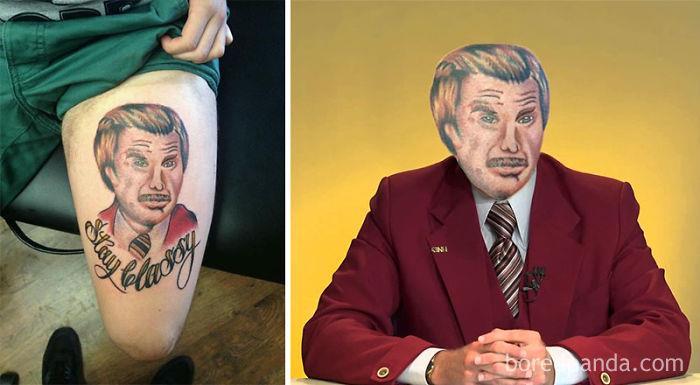 Tatuaggi brutti con lo face-swap: il volto di Will Ferrell