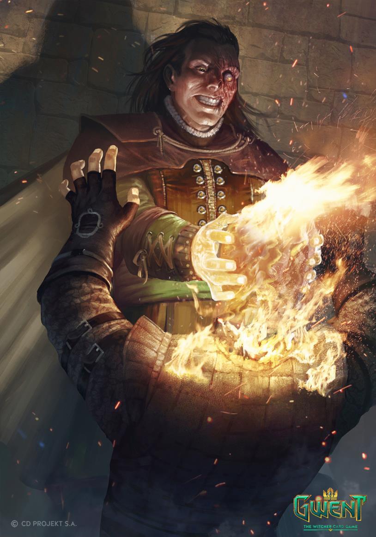 Vilgefortz nel Gwent, il gioco di carte di The Witcher