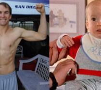 Un collage di Hank Deutschendorf in Ghostbusters 2 e attualmente