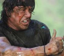 Sylvester Stallone in una scena di John Rambo del 2008