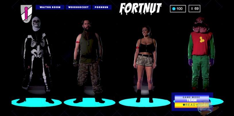 I protagonisti di Fortnut, la parodia porno di Fortnite