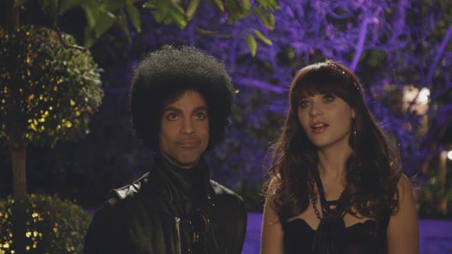 Prince e Zooey Deschanel in New Girl