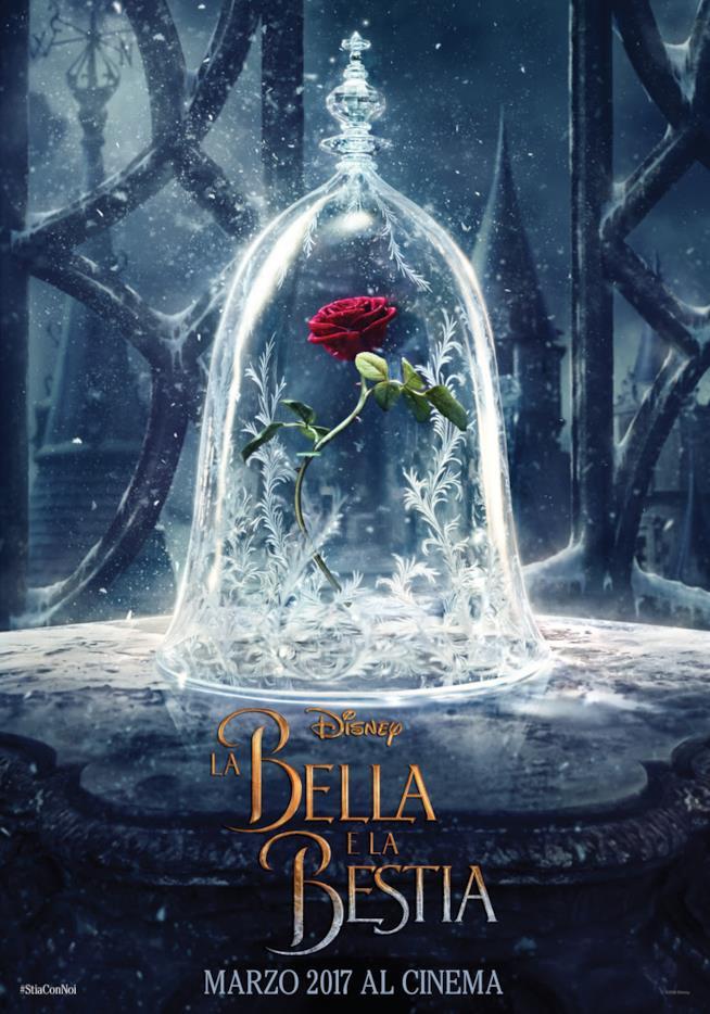 La rosa protagonista del poster del live-action Disney La Bella e La Bestia