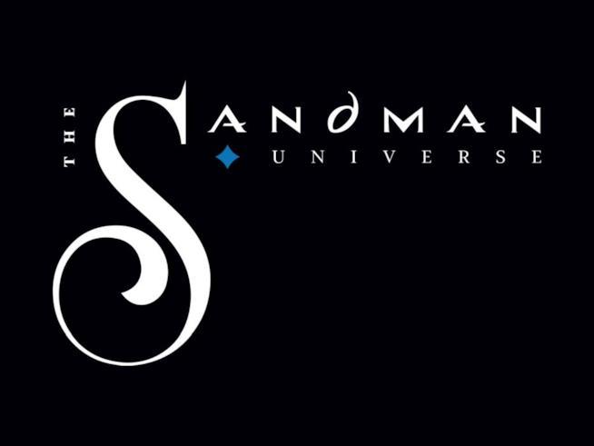 Immagine del logo di The Sandman Universe su sfondo nero