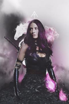 Psylocke nel poster dedicato ai 4 cavalieri di Apocalisse