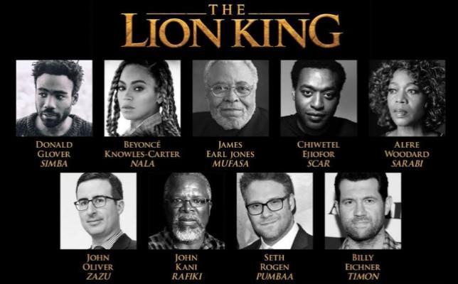 Il cast di star de Il Re Leone