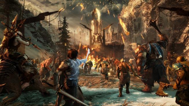 Talion guida un assedio in La Terra di Mezzo: L'Ombra della Guerra